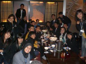 Makan di Sumo Restaurant (pertukaran pelajar)