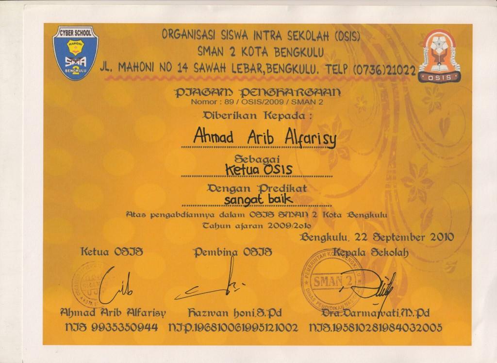 Ketua Organisasi Siswa Intra Sekolah (OSIS)