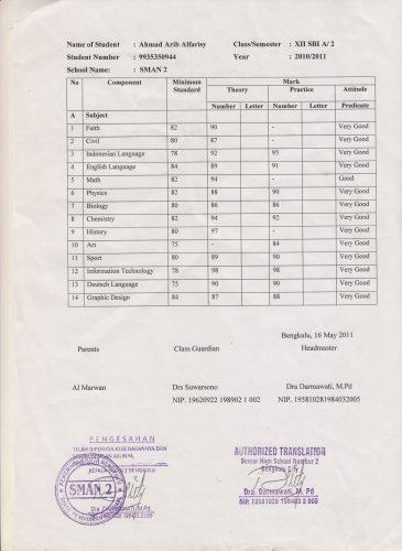 Authorized Translation Untuk Keperluan Beasiswa Ke Luar Negeri Bagian 2 Ahmadarib Com