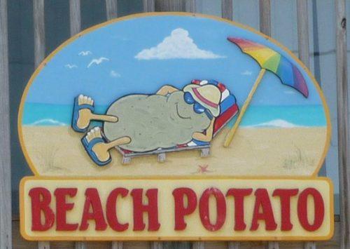 wisata kaur, beach potato