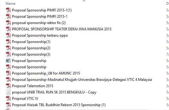 4. Penamaan File, jangan proposal atau proposal sponsorship
